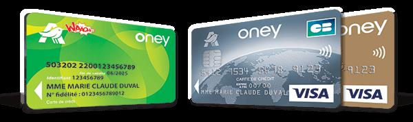 Les différentes cartes de financement Auchan et Oney
